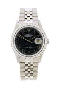 ROLEX 2.2CT 36MM DATEJUST SS WITH BOX AND APPRAISAL