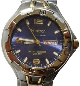 Armitron Armitron Navy Blue Dial Luminous Watch Rotating Bezel