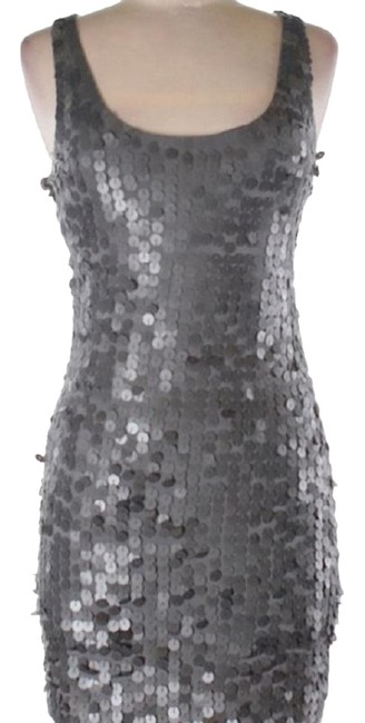 Item - Silver Sequin Bodycon Cocktail Small Mid-length Night Out Dress Size 6 (S)