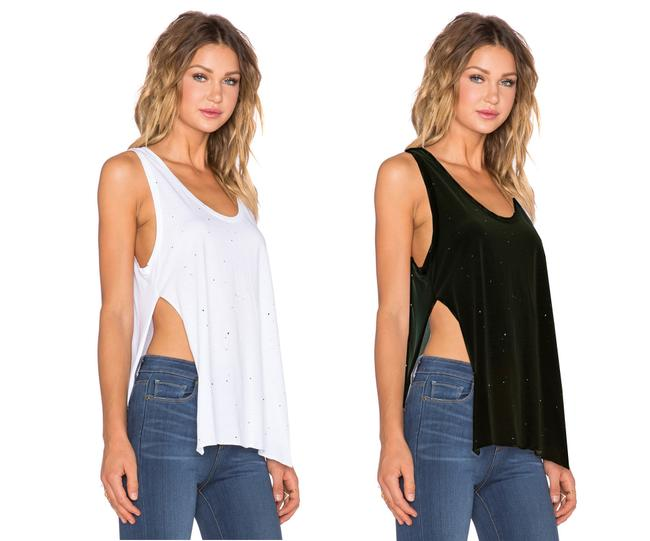 Preload https://img-static.tradesy.com/item/23542249/feel-the-piece-black-white-wilder-tank-topcami-size-10-m-0-0-650-650.jpg
