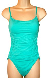 Anne Cole Classic Lingerie Ruched Maillot One-Piece Swimsuit Turquoise