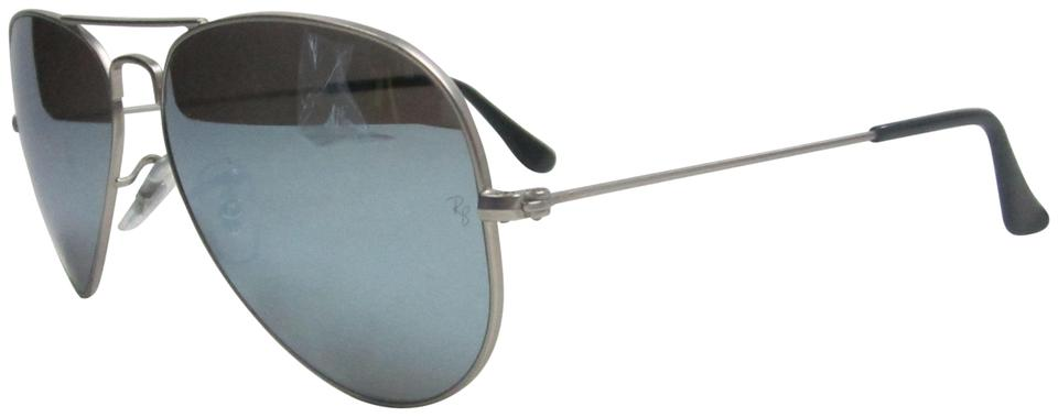 a45ef4288c5 Ray-Ban Silver Made In Italy Aviator Rb3025 Polarized Sunglasses Stb329  Sunglasses