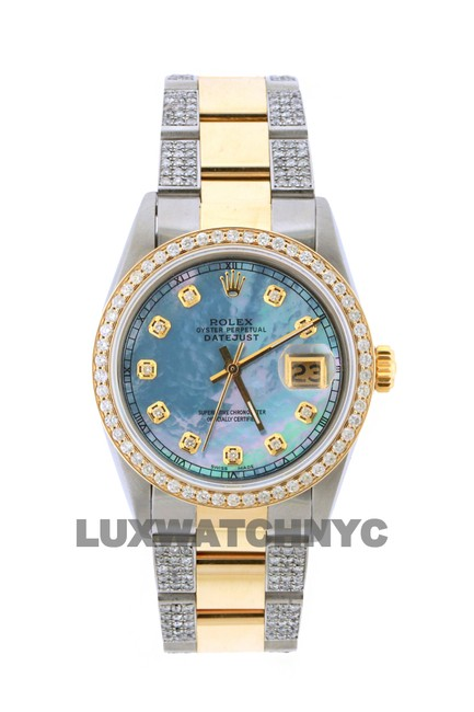 Rolex Box 3.8ct 36mm Roelx Datejust Gold Ss with and Appraisal Watch Rolex Box 3.8ct 36mm Roelx Datejust Gold Ss with and Appraisal Watch Image 1