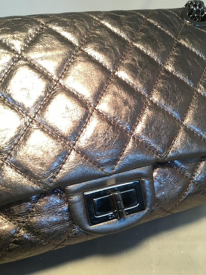 132c535139d4 Chanel 2.55 Reissue Double Flap Aged Calfskin 227 Classic Silver ...