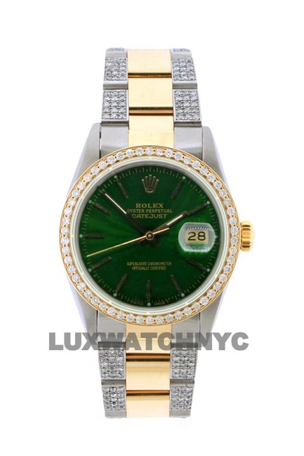 Rolex Box 3.8ct 36mm Datejust Gold Ss with and Appraisal Watch Rolex Box 3.8ct 36mm Datejust Gold Ss with and Appraisal Watch Image 1