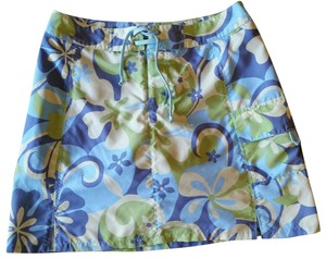 Title nine Undershorts Wrinkle Free Mini Skirt Blues,Greens