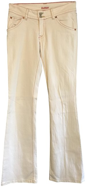 Item - White with Red Accent Stitching Boot Cut Jeans Size 29 (6, M)