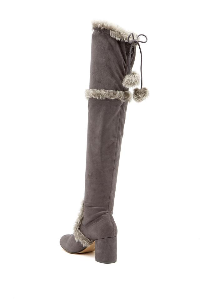 57fa48bbf32 Charles by Charles David Slate-mf Women s Odom Faux Fur Trimmed Over-the-knee  Boots Booties