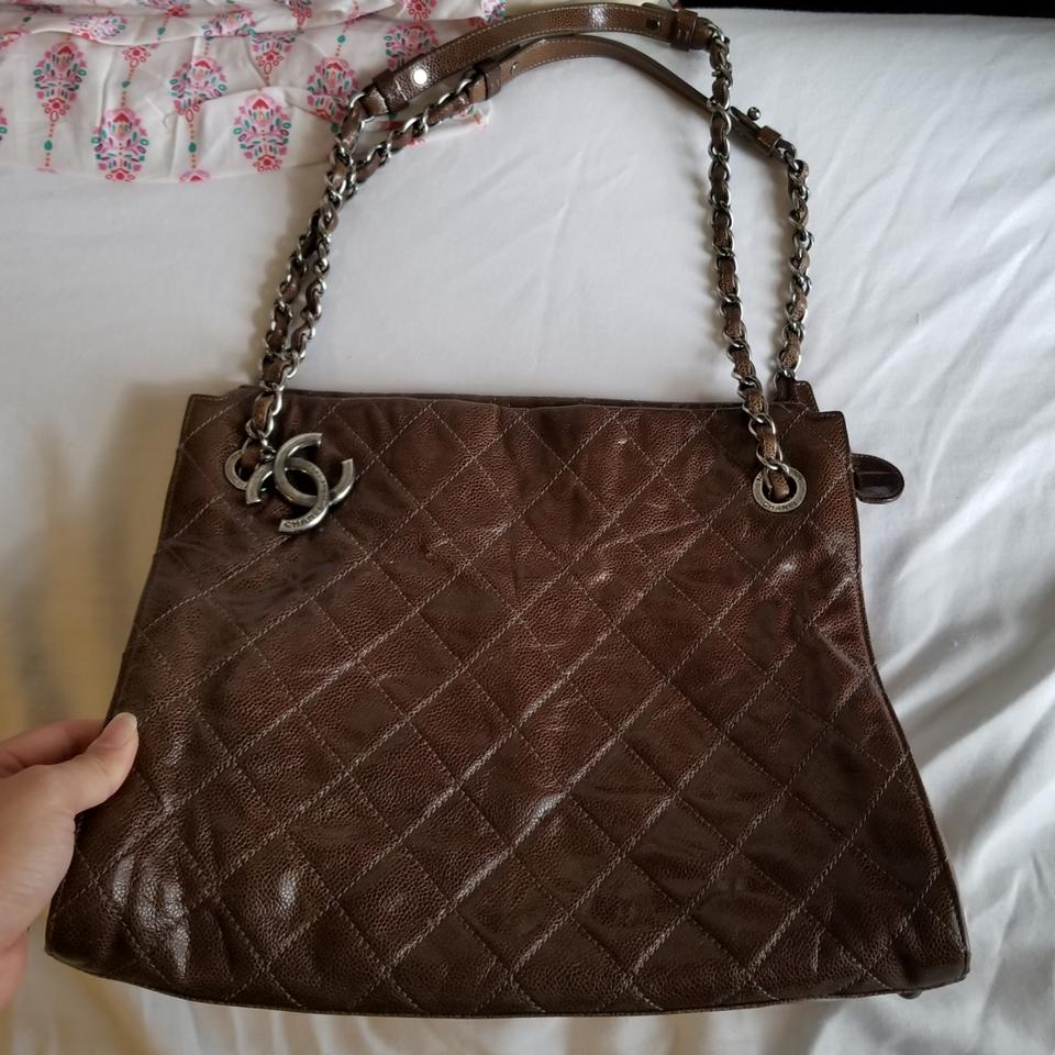 c1e18c9e5dfa0a Chanel Shopping Large Chic Caviar Glazed Walnut Brown Leather Tote ...