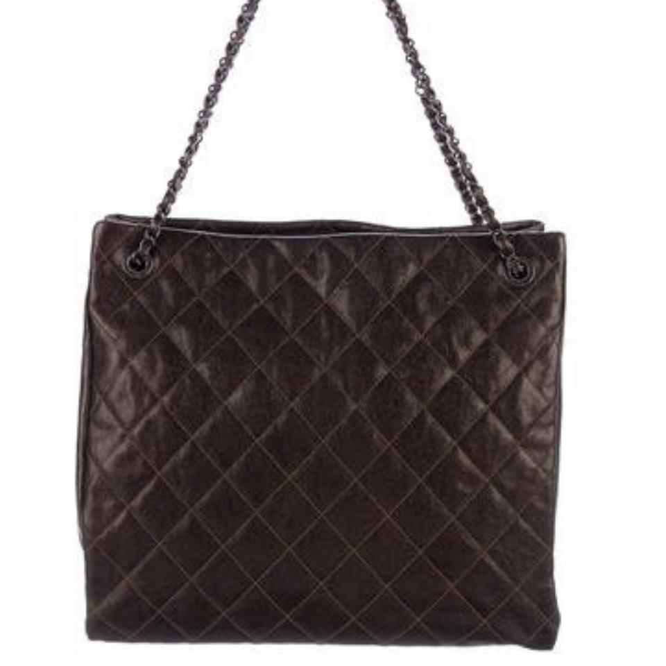 d71201f9b536 Chanel Shopping Tote Large Chic Caviar Glazed Walnut Brown Leather Tote 70%  off retail