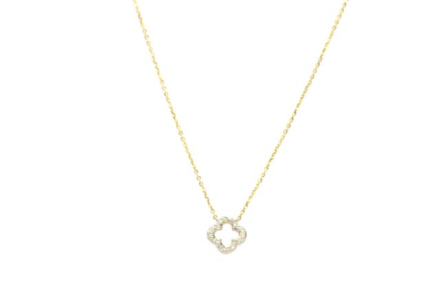 Diamond 14kt. Yellow Gold Cable Chain with Fancy Pendant Charm Necklace Diamond 14kt. Yellow Gold Cable Chain with Fancy Pendant Charm Necklace Image 1