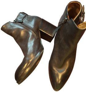 Alberto Fermani Leather Ankle Buckle brown Boots
