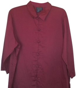 Willow Ridge 3/4 Sleeve Knotted Loop Front Button Down Shirt