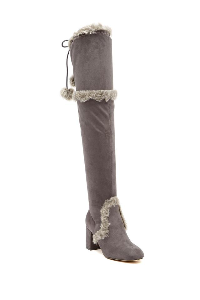 4d95ff45ca6 Charles by Charles David Slate-mf Women s Odom Faux Fur Trimmed Over-the-knee  Boots Booties