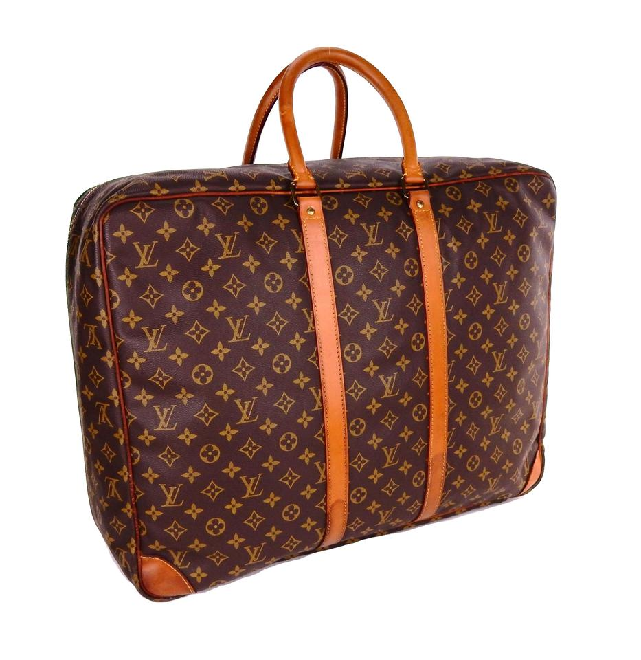Louis Vuitton Monogram Suitcase Vintage Luggage Brown Travel Bag Image 0 ... 58d30acdb76a6