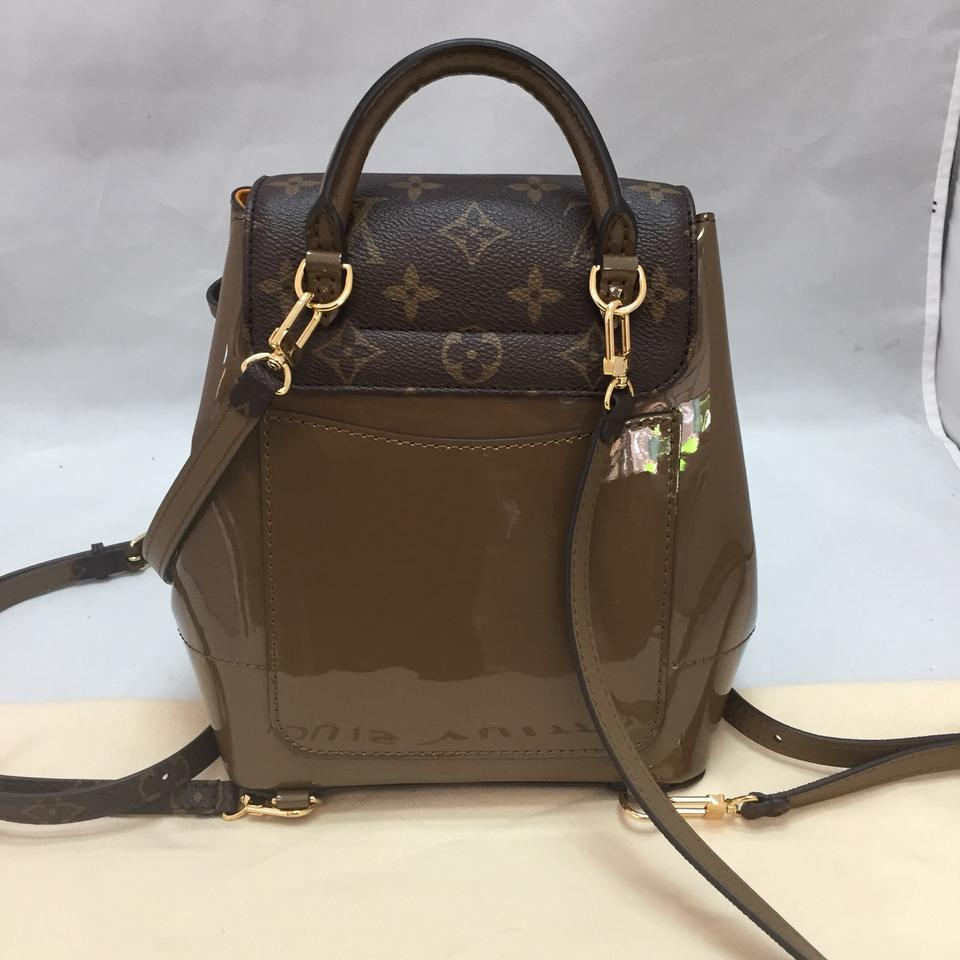 45f3abfefaa1 Louis Vuitton Hot Springs Vert Vernis. Never Used Brown Monogram Canvas  Backpack - Tradesy