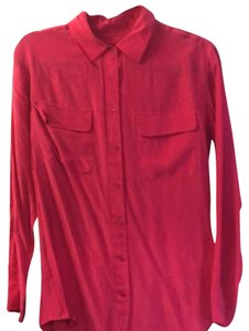 Equipment Button Down Shirt berry