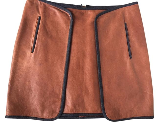 Veronica Mini Skirt Tan and Black