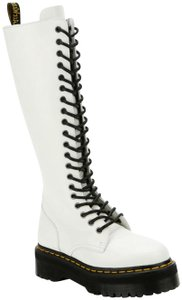 Dr. Martens Zip Leather Rare White Boots
