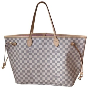 Louis Vuitton Neverfull Gm Monogram Tote in Damier Azur / Rose Ballerine