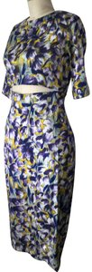 SUNO Cut-out Floral Dress