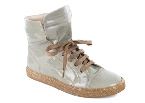 Brunello Cucinelli Sneakers Lace Up Patent Green Athletic
