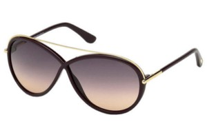 aa810a83123 Tom Ford Tom Ford Women Oval Sunglasses TF454 81Z Purple Gold Frame Purple  Lens