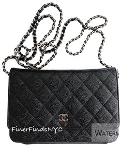 850f92241f Added to Shopping Bag. Chanel Shoulder Bag. Chanel Wallet on Chain Quilted  Classic Woc Black Caviar Leather ...
