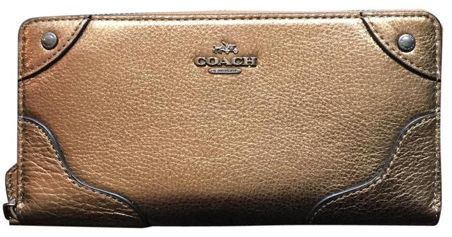 Coach Brass F52645 Leather Mickie In Wallet Coach Brass F52645 Leather Mickie In Wallet Image 1