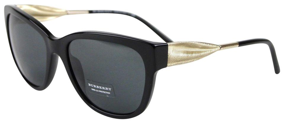 7a1efd6d5486 Burberry Black/Gold New Cat-eye with Golden Accent 4203 3001/87 Sunglasses