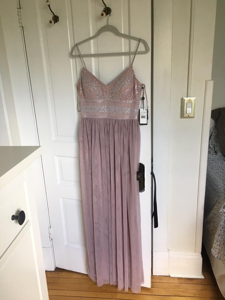 cad08272 BHLDN Rose Beading Tulle Adrianna Papell For Aida Formal Bridesmaid/Mob  Dress Size 8 (. 12345678