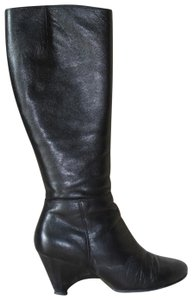 Gentle Souls Leather Tall Leather Comfortable Orthopedic Winter Black Boots