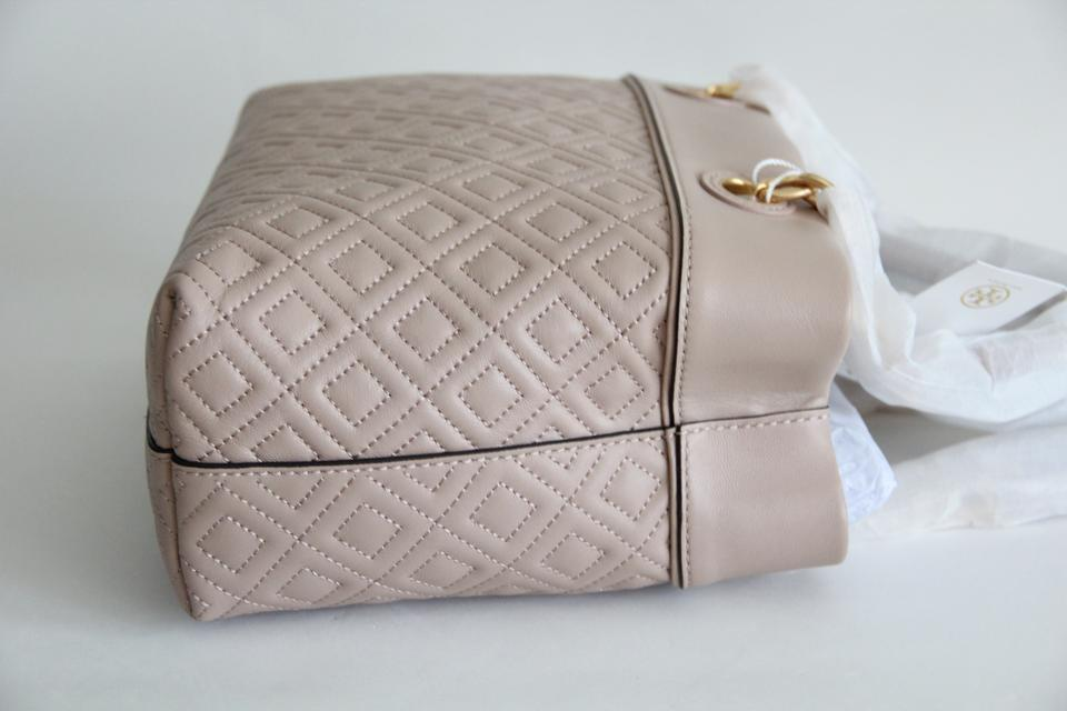 8f319d88d34 Tory Burch Fleminge Quilted Small Tote in New Mink Image 10. 1234567891011