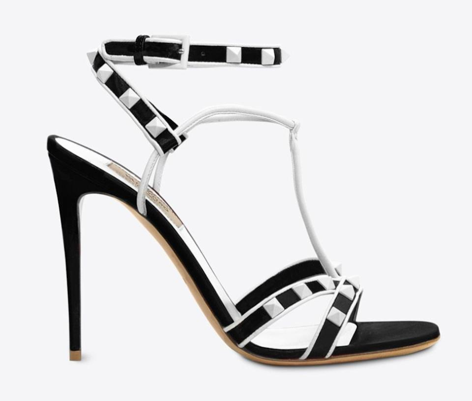 945d056bc Valentino Black Rockstud Free Spike White Stud Suede Ankle Strap Sandal Heel  Pumps Size EU 36 (Approx. US 6) Regular (M, B) - Tradesy