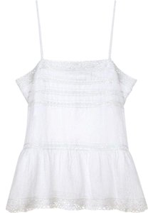 Étoile Isabel Marant Lace Braided Loose Fit Top White