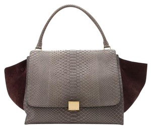 Céline Trapeze Python Large Shoulder Bag