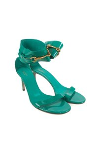 Gucci Patent Leather Turquoise Pumps