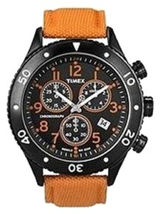 Timex Timex Male Indiglo Watch T2N085 Black Chronograph