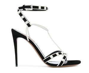 Valentino Rockstud Studded Stiletto Sandal Ankle Strap black Pumps