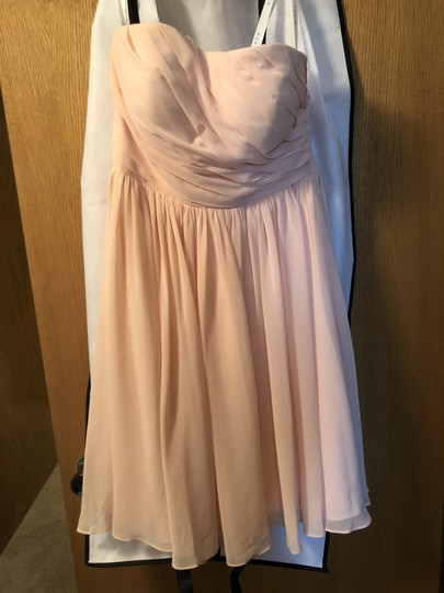 Azazie Peach Chiffon Katie Destination Bridesmaid/Mob Dress Size 8 (M)