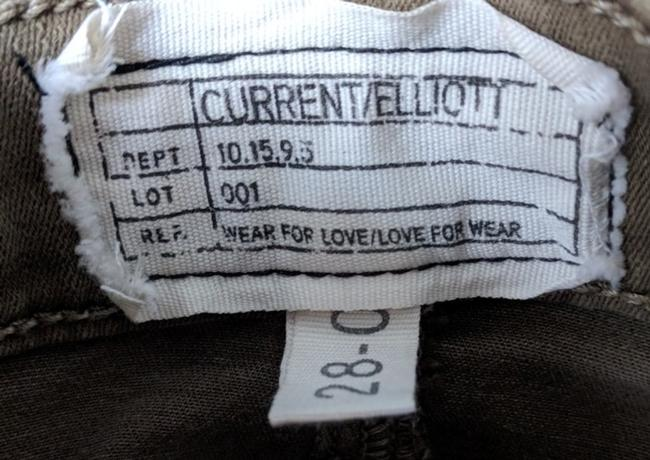 Current/Elliott Vintage Army Made In Usa Fitted Pockets Cargo Pants Olive green