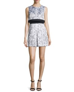 Cynthia Rowley Crepe Shift Ruffle Dress