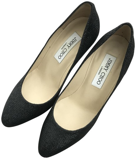Preload https://img-static.tradesy.com/item/23545030/jimmy-choo-black-glitter-fabric-247-aimee-pumps-size-eu-35-approx-us-5-regular-m-b-0-1-540-540.jpg