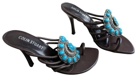 Preload https://img-static.tradesy.com/item/23545032/colin-stuart-brown-with-teal-stones-leather-navajo-sexy-kitten-sandal-heels-pumps-size-us-6-narrow-a-0-1-540-540.jpg