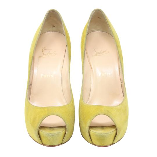 Christian Louboutin So Kate Yoyo Pigalle Pik Pik Galata Yellow Platforms