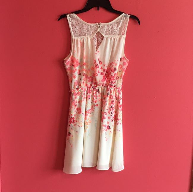 Candie's short dress Cream and pink on Tradesy