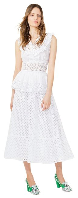 Preload https://item1.tradesy.com/images/tory-burch-white-new-cotton-summer-eyelet-ruffle-rare-midi-skirt-size-2-xs-26-23545070-0-1.jpg?width=400&height=650