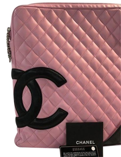 Preload https://item2.tradesy.com/images/chanel-cambon-xl-pink-lambskin-leather-cross-body-bag-23545071-0-1.jpg?width=440&height=440