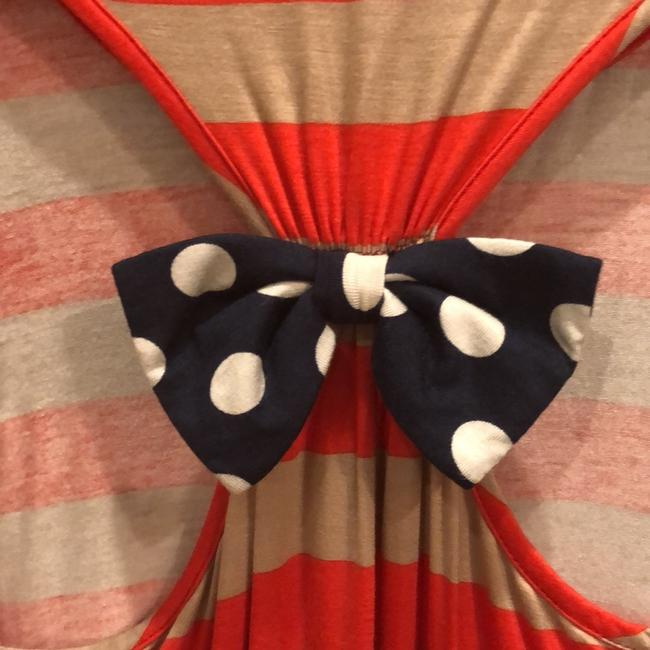 Modern Vintage Top red/taupe/navy/white