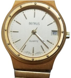 Benrus Vintage Benrus Gold Tone One Jewel Swiss Watch